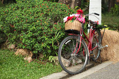 Red bicycle Royalty Free Stock Images