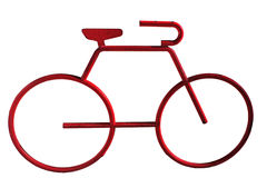 Red Bicycle. Abstract red bicycle on white background Stock Image