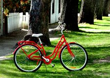 The Red Bicycle. Stock Photos
