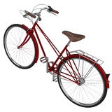 Red bicycle with chrome. 3D graphic Stock Photos