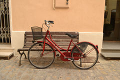 Red bicycle Stock Photography