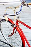 Red bicycle handles Royalty Free Stock Images