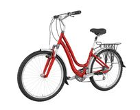 Red Bicycle Isolated. On white background. 3D render Royalty Free Stock Photo