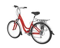 Red Bicycle Isolated. On white background. 3D render Royalty Free Stock Image