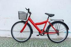 Red bicycle Stock Images