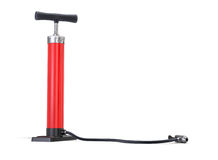 Red Bicycle Pump Royalty Free Stock Photography