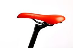 Red bicycle saddle Stock Photography