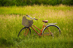 A red bicycle Royalty Free Stock Photo