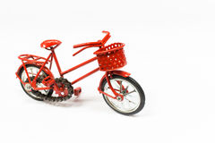 Red bicycle toy Stock Photography