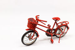 Red bicycle toy Royalty Free Stock Image