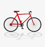 Red bicycle. Stock Photos