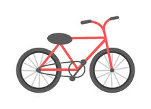 Red bicycle  vector illustration. Royalty Free Stock Images