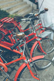 Red bicycle vintage Stock Photos