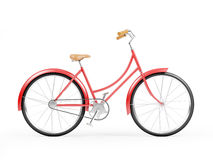 Red bicycle vintage Stock Image
