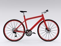 Red bicycle. On white background Royalty Free Stock Image