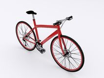 Red bicycle. On white background Royalty Free Stock Images