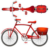 A red bicycle Stock Photo