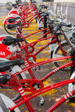 Red Bicycles Royalty Free Stock Image