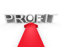 Red Big Arrow Pointing To PROFIT Word Royalty Free Stock Images
