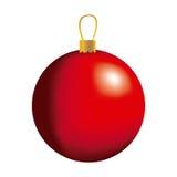 Red big christmas balls icon Stock Image