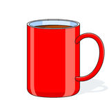Red big cup. Vector illustration isolated on white background Royalty Free Stock Photos