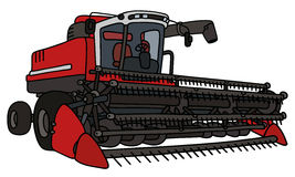 Red big harvester Royalty Free Stock Photography
