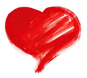 Red big heart. watercolor drawing Royalty Free Stock Images