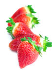 Red big juicy ripe strawberries Royalty Free Stock Photography