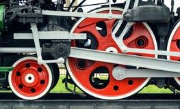 Red big loco wheels Stock Photos