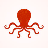 Red big octopus vector Stock Photography