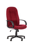 Red big office chair. Isolated. On white background stock photos