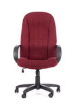 Red big office chair. Isolated. On white background royalty free stock images