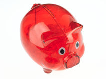 Red big piggy bank. Red piggy bank on a white background Royalty Free Stock Images