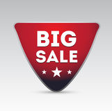 Red big sale button Royalty Free Stock Images