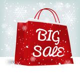Red big sale shopping bag Royalty Free Stock Photos