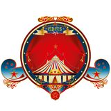 Red big top circus frame Royalty Free Stock Image