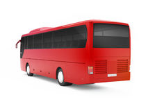 Red big tour bus isolated on a white background. Royalty Free Stock Photo