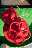 Red big water valve Stock Photos