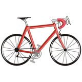 Red bike. Artistic illustration of a red bicycle Stock Photos