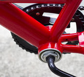 Red bike frame triangle Royalty Free Stock Images