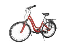 Red bike isoalted. Red bike isolated on white background. This image contains a clipping path Royalty Free Stock Photos