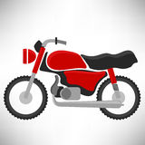 Red Bike Silhouette Stock Images