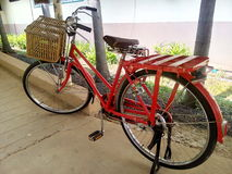 The Red Bike Story. Pretty  invention  design decorate Asia Thailand  pretty spin  exercise sport Stock Image