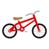 Red bike. With wheels, seat and handlebar Stock Illustration