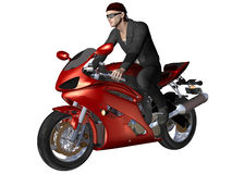 Red biker Royalty Free Stock Photo