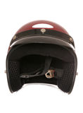 Red bikers crash helmet Stock Photo