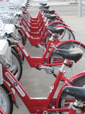 Red Bikes Stock Photos