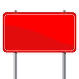 Red billboard. Isolated object over white background Royalty Free Stock Images