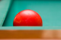 Red Billiard Ball Royalty Free Stock Photos