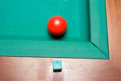 Red Billiard Ball Royalty Free Stock Images